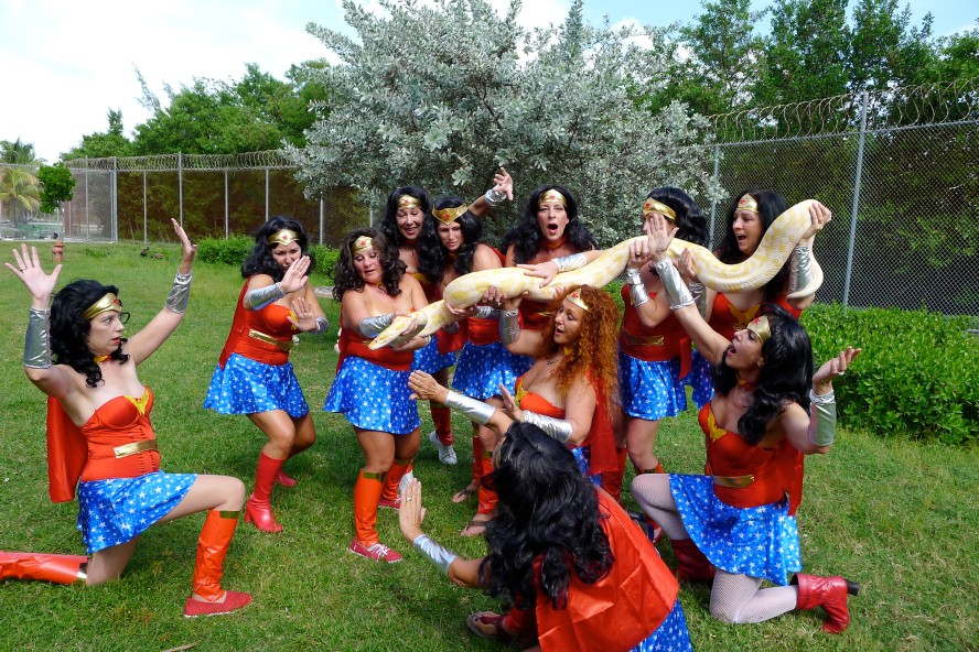 The ladies from Womankind dress as Wonder Woman for this year's Fantasy Fest!