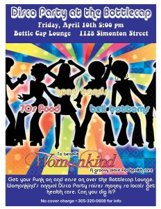 Bottle Cap Disco Party – Friday, April 10, 2015 – 5pm
