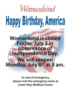 We are closed July 3rd