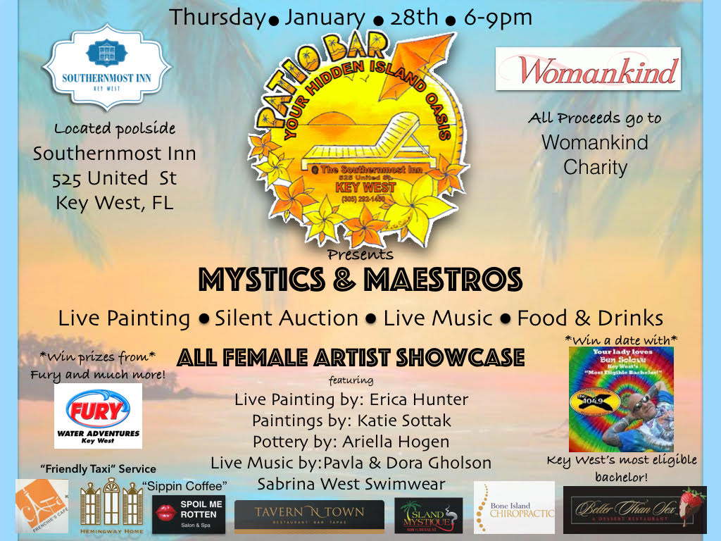 Mystics and Maestros – Thursday January 28th 6-9pm!